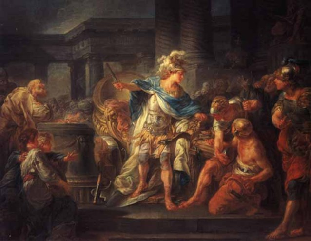Alexander Cuts the Gordian Knot (Jean-Simon Berthelemy, 1743-1811)